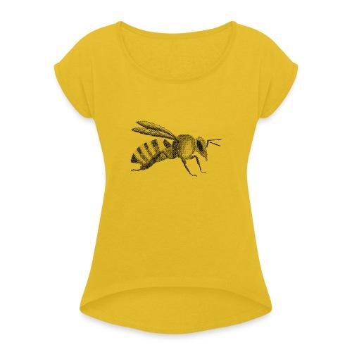 Biene - Frauen T-Shirt mit gerollten Ärmeln