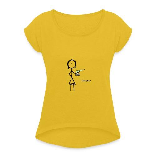 Drillpike - T-skjorte med rulleermer for kvinner