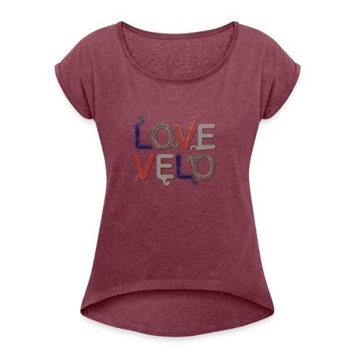 LOVEVELO - T-shirt à manches retroussées Femme