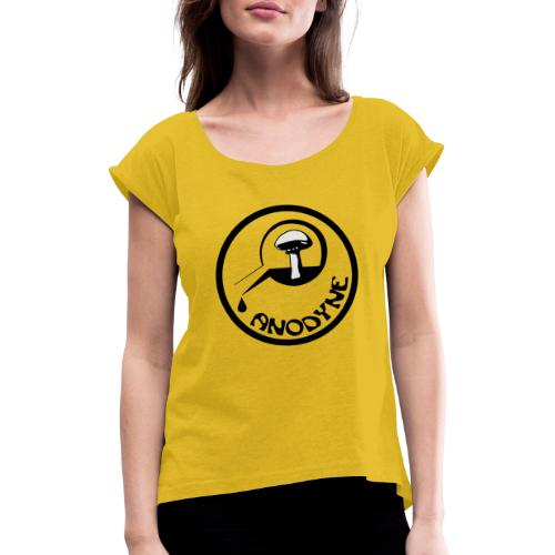 Anodyne Records Logo - Vrouwen T-shirt met opgerolde mouwen