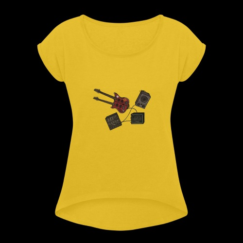 Music - Women's T-Shirt with rolled up sleeves