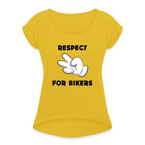 Respect for Bikers - Maglietta da donna con risvolti