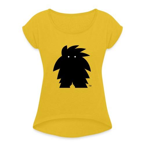 WET MONSTER koszulka damska - Koszulka damska z lekko podwiniętymi rękawami