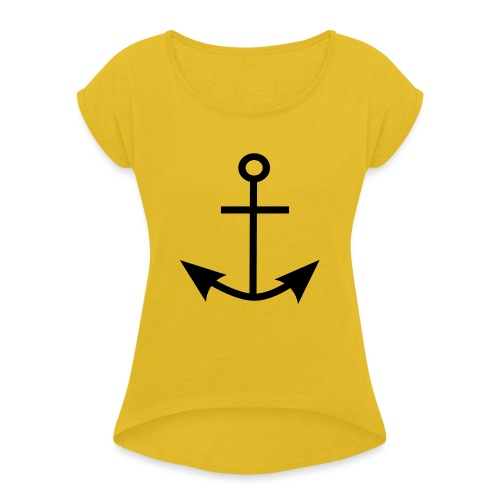 ANCHOR CLOTHES - Women's T-Shirt with rolled up sleeves
