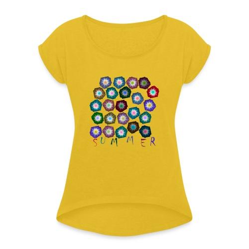 SUMMER 21.1 - Frauen T-Shirt mit gerollten Ärmeln