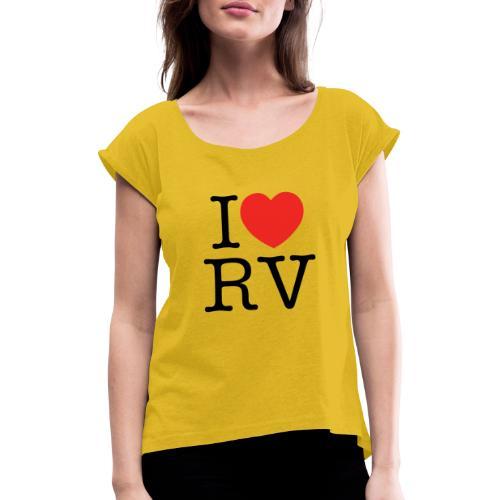I love Ravensburg - Frauen T-Shirt mit gerollten Ärmeln
