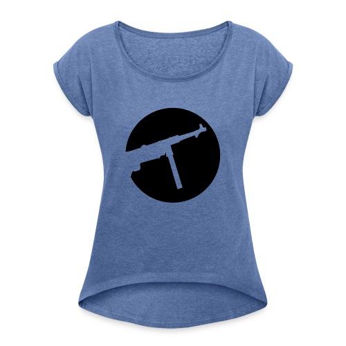 Mp40 german gun maschinenpistole 40 ww2 - Women's T-Shirt with rolled up sleeves
