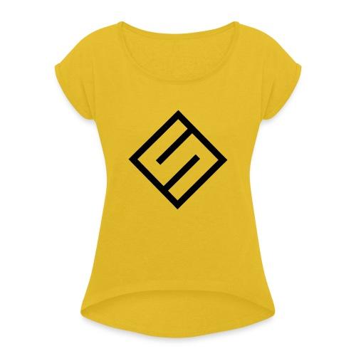 Baseball Sunny T-Shirt - T-skjorte med rulleermer for kvinner