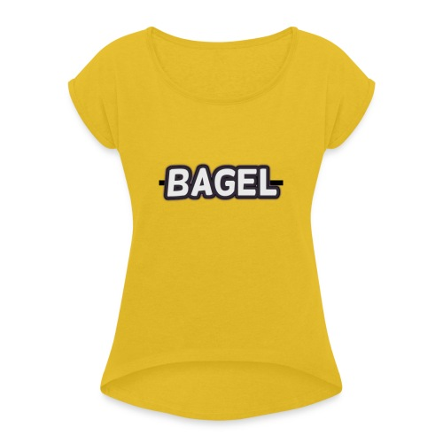 BAGELlllllllllllllllllllllllllllllllllllllllllllll - Vrouwen T-shirt met opgerolde mouwen