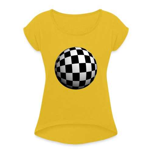 bola 3d - Women's T-Shirt with rolled up sleeves