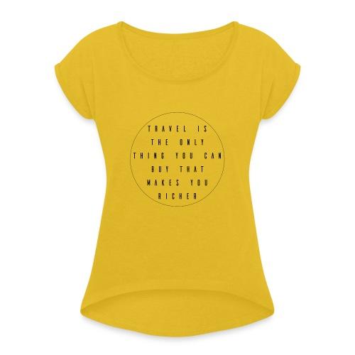Travel - Vrouwen T-shirt met opgerolde mouwen