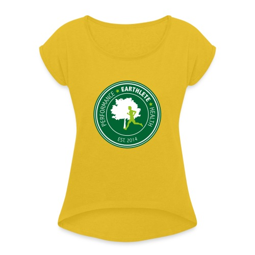 EARTHLETE Brand Logo - Dame T-shirt med rulleærmer