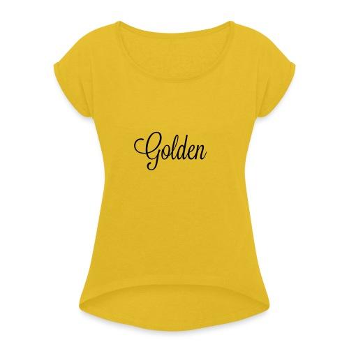 Basically basic - Dame T-shirt med rulleærmer