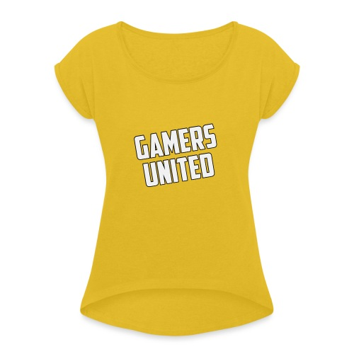 Gamers United - Women's T-Shirt with rolled up sleeves