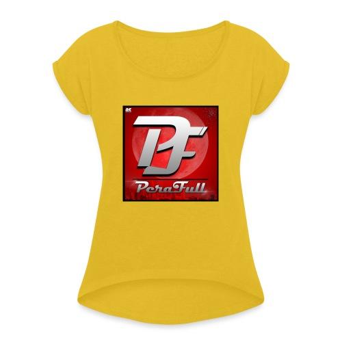 PeraFull Logo 2016 - Camiseta con manga enrollada mujer