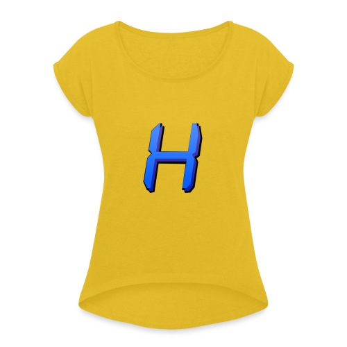 Hirochu Basic Coloured - Women's T-Shirt with rolled up sleeves