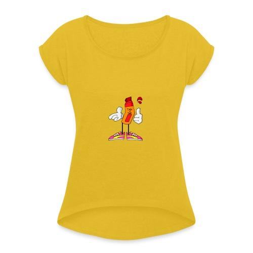 Drip N Drop - Maglietta da donna con risvolti