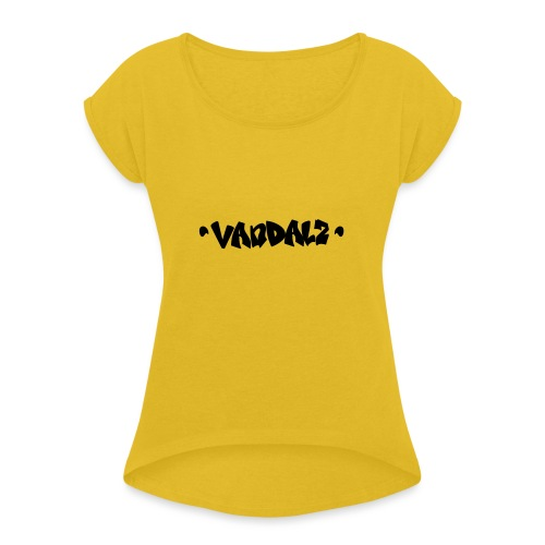 Vandalz Black - Maglietta da donna con risvolti