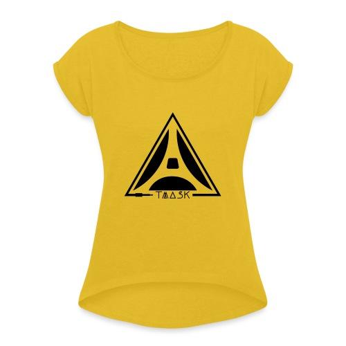 logo TMASK - T-shirt à manches retroussées Femme
