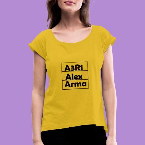 Alex - Camiseta con manga enrollada mujer