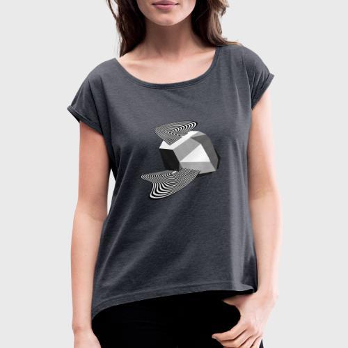 Sharp Curves - T-shirt à manches retroussées Femme