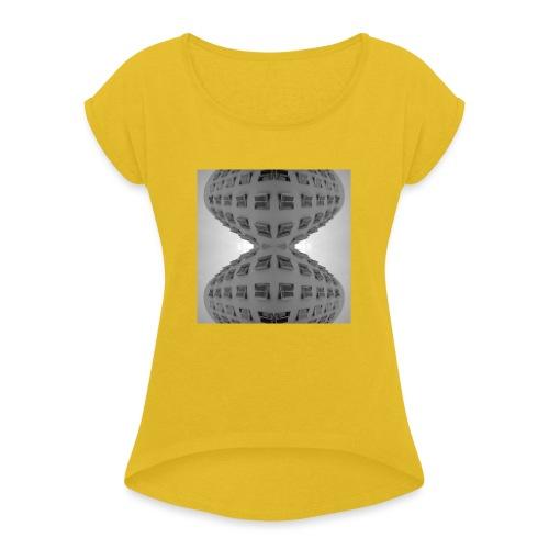 Düsseldorf 20.1 - Frauen T-Shirt mit gerollten Ärmeln