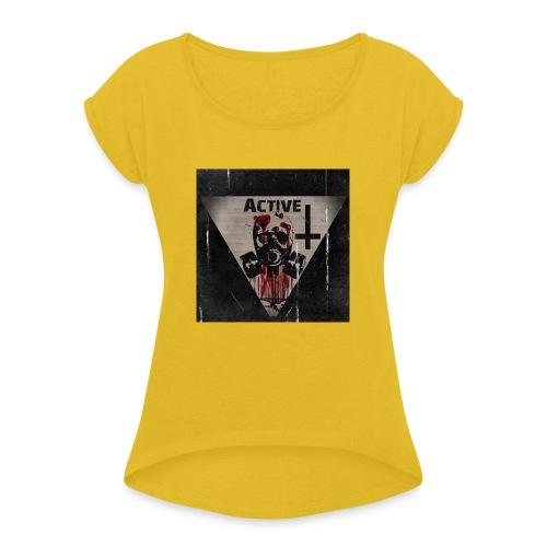 *Active* - Frauen T-Shirt mit gerollten Ärmeln