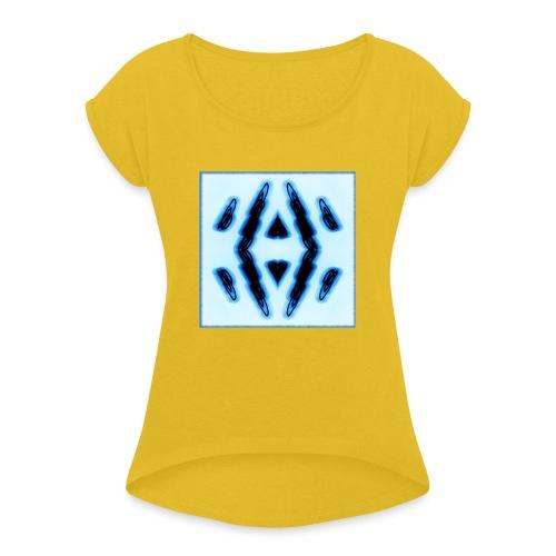 Lichtertanz #3 - Frauen T-Shirt mit gerollten Ärmeln