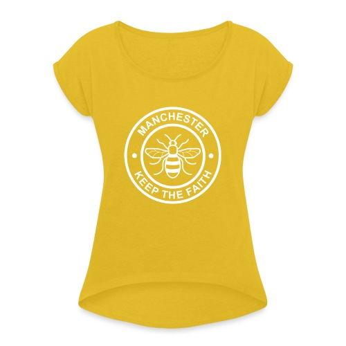 Manchester Faith Bee - Women's T-Shirt with rolled up sleeves