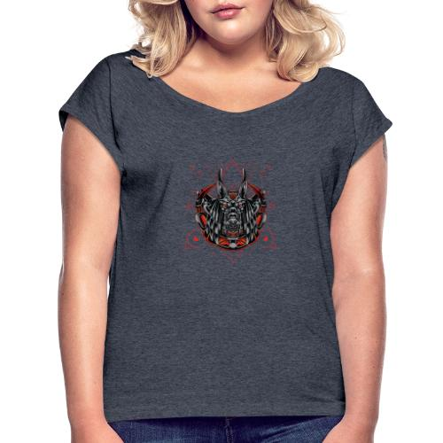 MMD AnuFighter - Women's T-Shirt with rolled up sleeves