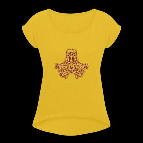 Triskeleton - Frauen T-Shirt mit gerollten Ärmeln