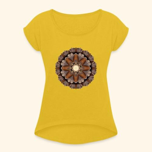 Morbid pattern tröjtryck 13 - T-shirt med upprullade ärmar dam