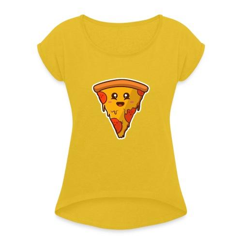 pizaa funny - Camiseta con manga enrollada mujer