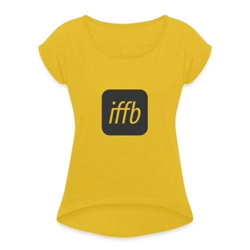 iffb logoonly quad - Frauen T-Shirt mit gerollten Ärmeln