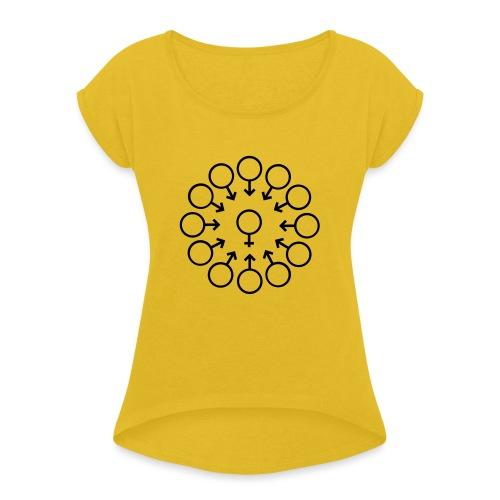 bukake - T-shirt à manches retroussées Femme