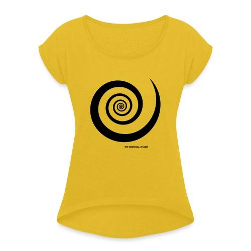 THE CRIMINAL CHAOS - Logo Spirale - Maglietta da donna con risvolti