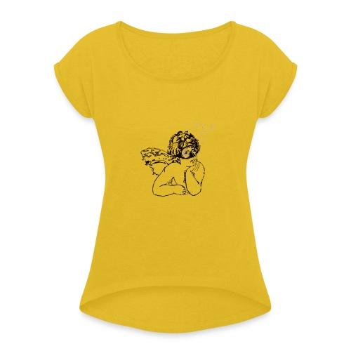 Ange bulles - T-shirt à manches retroussées Femme