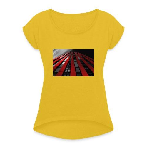building-1590596_960_720 - Frauen T-Shirt mit gerollten Ärmeln