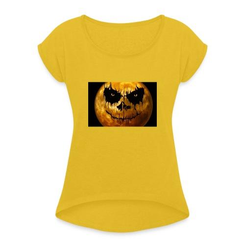 Halloween Mond Shadow Gamer Limited Edition - Frauen T-Shirt mit gerollten Ärmeln