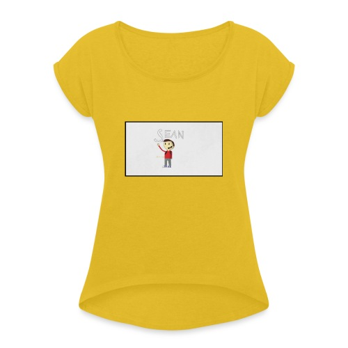 received_552517744928329 - Women's T-Shirt with rolled up sleeves