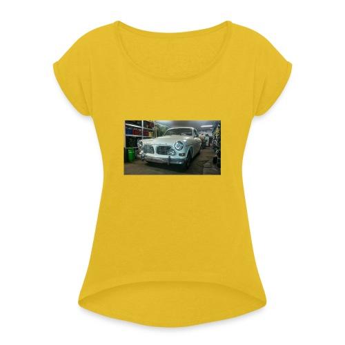 p120 alter schwede - Frauen T-Shirt mit gerollten Ärmeln
