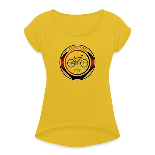 PASSION VELO - T-shirt à manches retroussées Femme