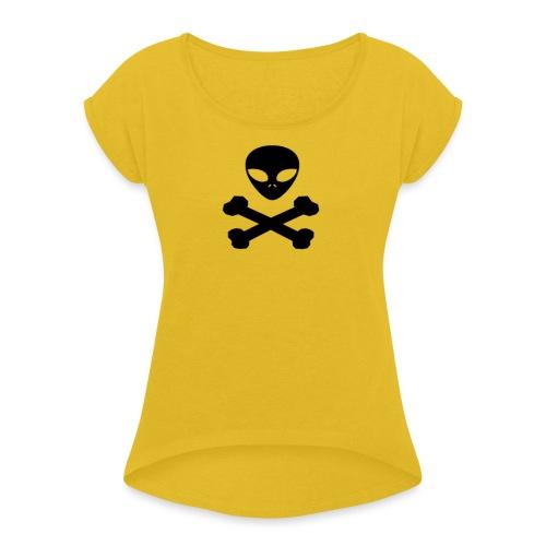 pirata alienígena - Camiseta con manga enrollada mujer