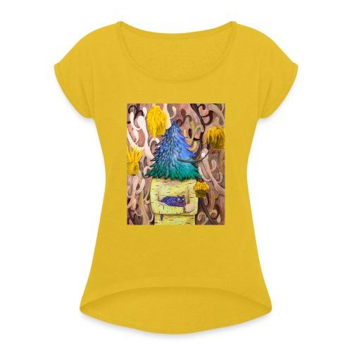 by Yuchi Hirako - Dame T-shirt med rulleærmer