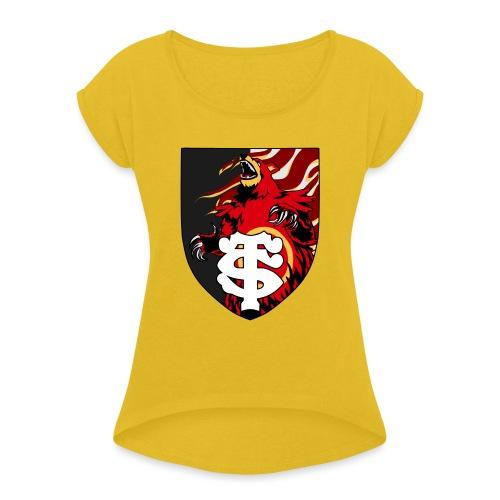 Stade touloursaring - T-shirt à manches retroussées Femme
