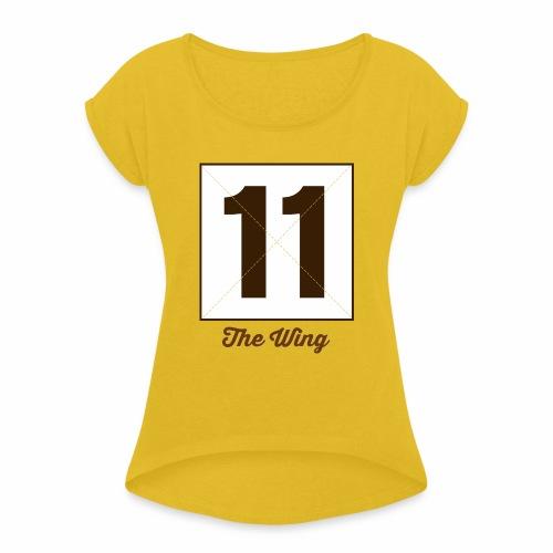 Wing11 Marplo - Maglietta da donna con risvolti