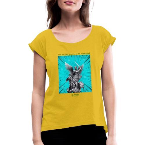 C11 - Camiseta con manga enrollada mujer