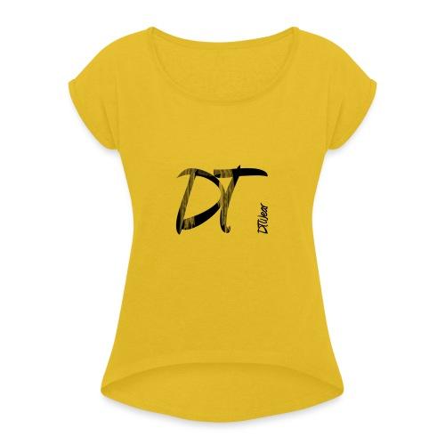 DTWear Limited Small Logo - Vrouwen T-shirt met opgerolde mouwen