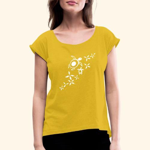 Meersschildis_VK3 - Frauen T-Shirt mit gerollten Ärmeln