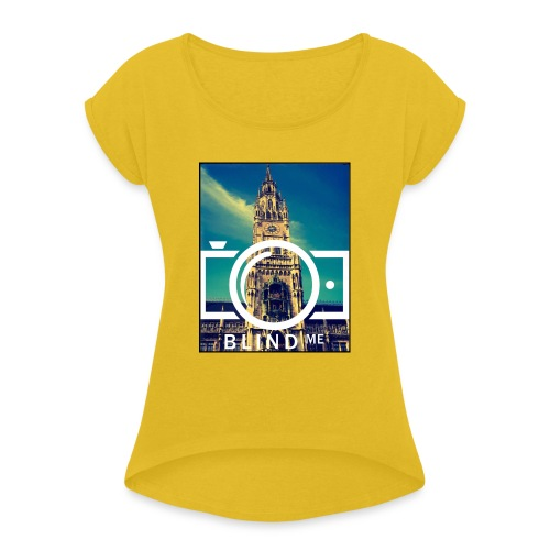 Offical BlindMe - Women's T-Shirt with rolled up sleeves